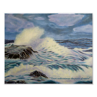 O oceano - uma força da natureza pôster