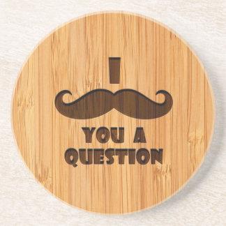 O olhar de bambu & gravou o bigode de I você uma Porta Copos De Arenito