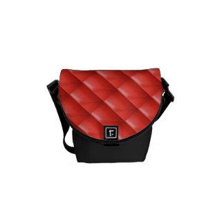 O olhar de couro vermelho a gosta do saco bolsa mensageiro