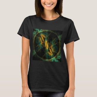 O olho da arte abstracta da selva tshirt