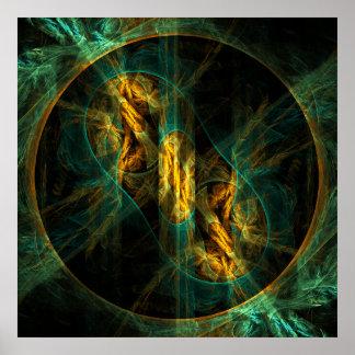 O olho do impressão da arte abstracta da selva