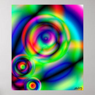 O olho vê-o impressão ou poster da arte abstracta
