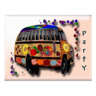 O ônibus do joaninha convida cartão postal