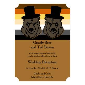 O orgulho do urso carrega o convite Cheltenham da Convite 12.7 X 17.78cm