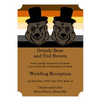O orgulho do urso carrega o convite da recepção de convite 12.7 x 17.78cm