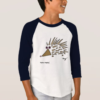 O ouriço abstrato caçoa o t-shirt do Raglan