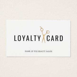 O ouro branco elegante do falso Scissor o cartão