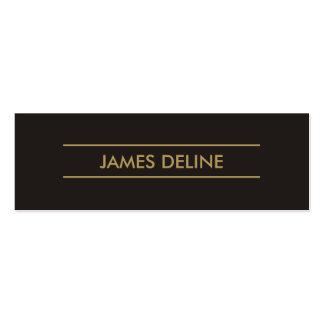 O ouro cinzento escuro elegante simples alinha o cartão de visita skinny