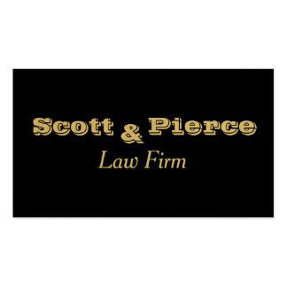 O ouro corajoso preto rotula advogados cartão de visita