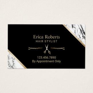 O ouro do cabeleireiro Scissor o cabeleireiro de Cartão De Visitas