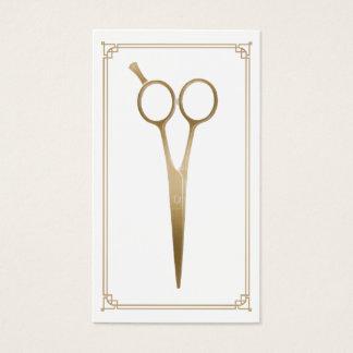 O ouro do cabeleireiro Scissor o cabeleireiro do Cartão De Visitas