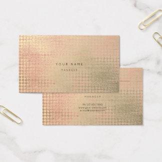 O ouro do pêssego cora cartão da nomeação do corte