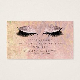 O ouro do rosa do rosa do cartão da referência do