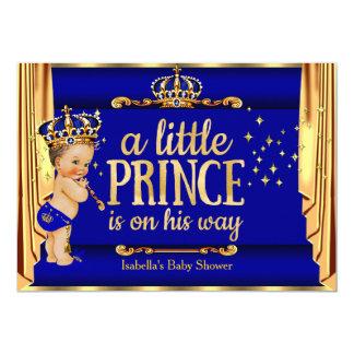 O ouro dos azuis marinhos drapeja o Brunette do Convite 12.7 X 17.78cm