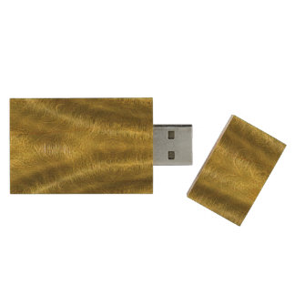 O ouro drapeja USB Flashdrive Pen Drive De Madeira