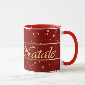 O ouro italiano do Natal Stars a caneca vermelha