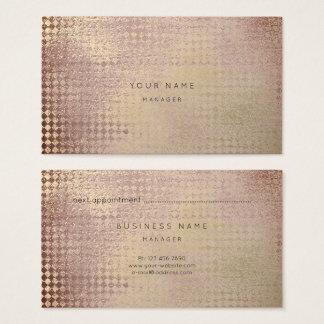 O ouro malva cora cartão da nomeação do corte do