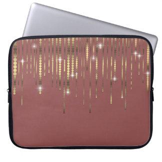 O ouro malva drapeja a faísca Boho Capas De Notebook