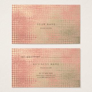 O ouro metálico cora cartão da nomeação do corte