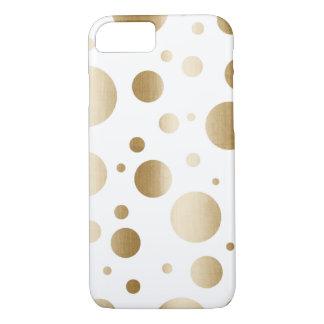 O ouro moderno escovado pontilha confetes capa iPhone 8/7