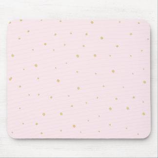 O ouro pontilha o rosa de Mousepad