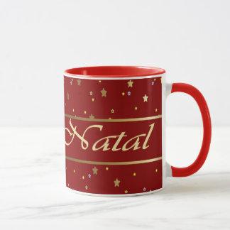 O ouro português do Natal Stars a caneca vermelha