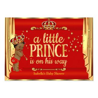 O ouro vermelho real drapeja o príncipe chá de convite 12.7 x 17.78cm