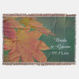 O outono colore o casamento coberta