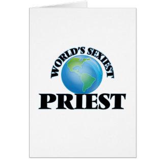 """O padre o mais """"sexy"""" do mundo cartão"""