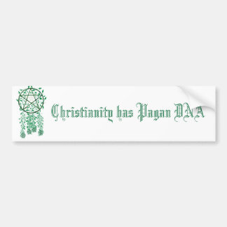 o pag, cristandade tem o ADN do Pagan Adesivo Para Carro