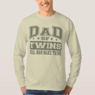 O pai do homem real dos gêmeos faz gêmeos tshirts