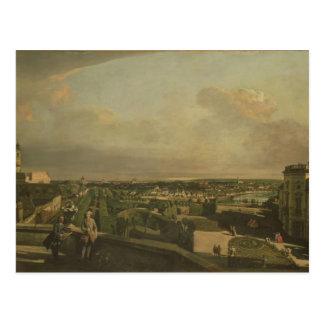 O palácio de Kaunitz e o jardim, Viena, 1759/60 Cartão Postal