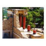 O palácio de Minoan da imagem de Knossos Cartoes Postais