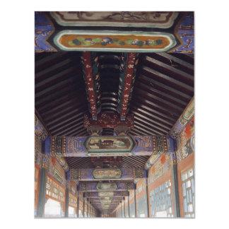 O palácio de verão em Beijing Convite