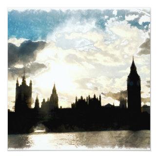 O palácio de Westminster em Londres Convite Quadrado 13.35 X 13.35cm