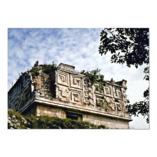 O palácio em ruínas maias, Uxmal do governador Convite 12.7 X 17.78cm