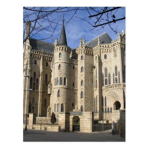O palácio episcopal de Astorga Cartões Postais