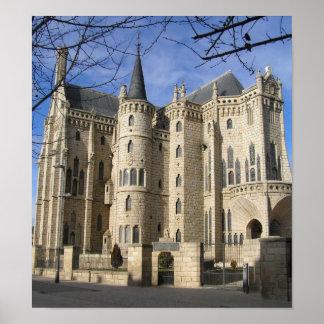 O palácio episcopal de Astorga Poster