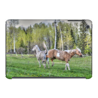 O Palomino Bucking pinta & o cavalo branco, Cavalo Capas Para iPad Mini