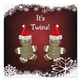 O pão-de-espécie junta o chá de fraldas do Natal Convite Personalizados