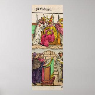 O papa Martin V é instalado ao papado Poster