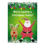 O papai noel bonito & a festa de Natal de Rudolph
