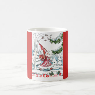 O papai noel da caneca do Natal está vindo