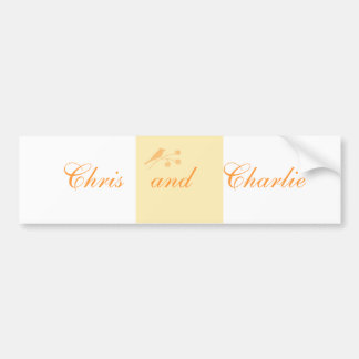 O papel de carta do casamento e a cerimónia civil  adesivo para carro