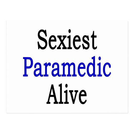 "O paramédico o mais ""sexy"" vivo cartoes postais"