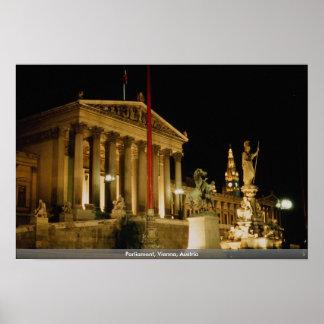 O parlamento, etapa atual de Viena, Áustria: 12% Poster
