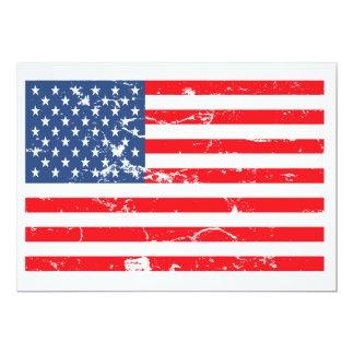 O partido afligido da bandeira dos EUA do estilo Convite 12.7 X 17.78cm
