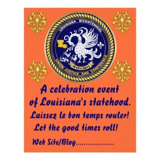 O partido bicentenário do carnaval de Louisiana Panfleto