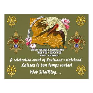 O partido bicentenário do carnaval de Louisiana Panfletos