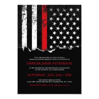O partido da bandeira americana do estilo do convite 12.7 x 17.78cm